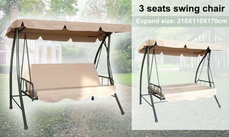 garten schaukel bett erwachsener bett swing frei stehen hollywoodschaukel 3 sitzer baldachin. Black Bedroom Furniture Sets. Home Design Ideas