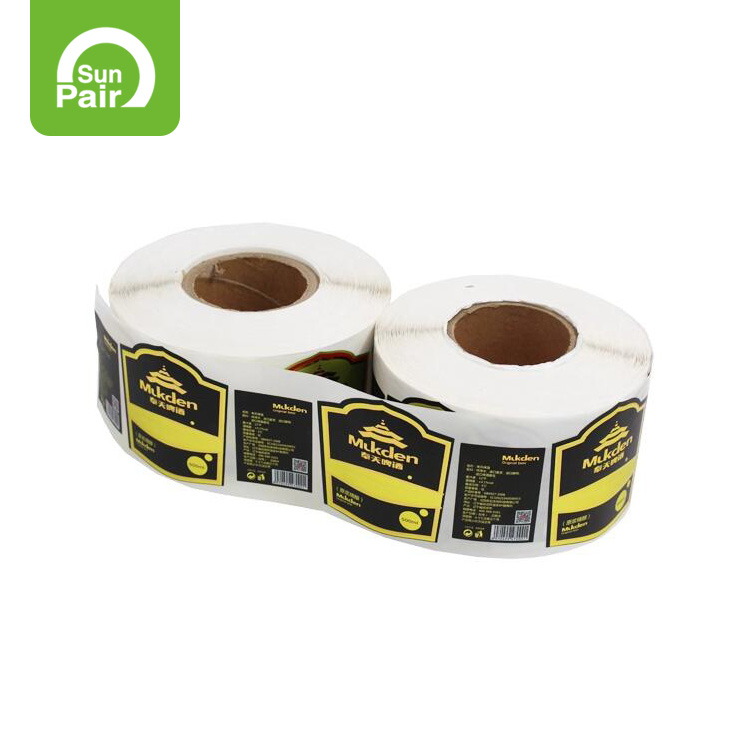 Customize Shape Adhesive Label Sticker By Roll