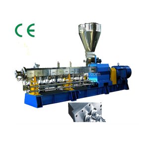 PP PS PE ABS PVC Plastic Master Batch Pellet Making Machine / Twin Screw Extruder Machine