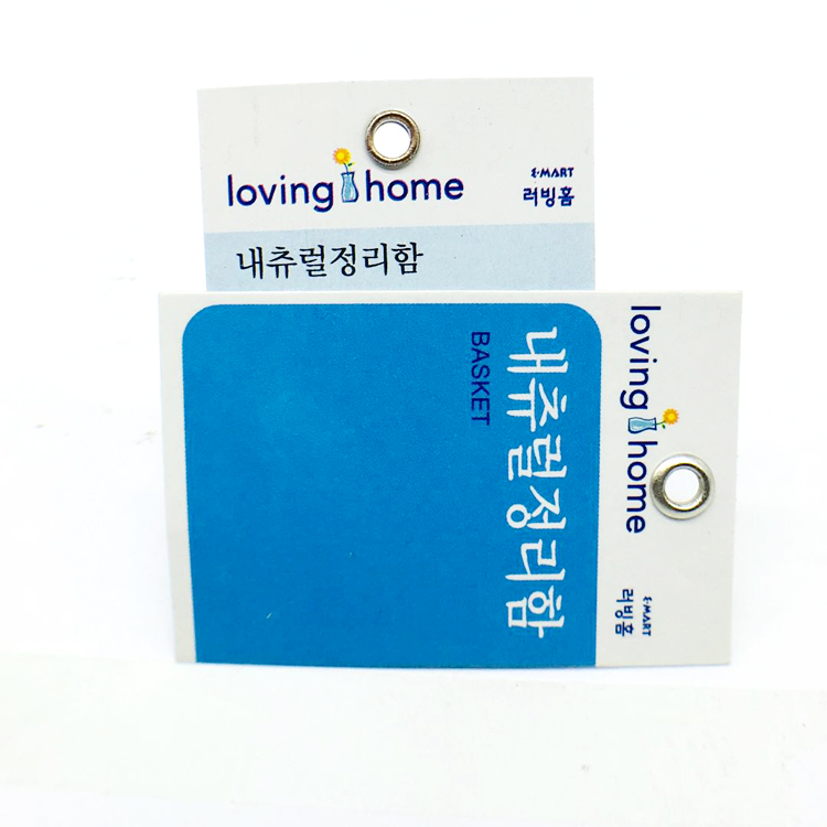 Wholesale Custom Different Types Furniture Retail Paper Hang Tags whit Metal Eyelet