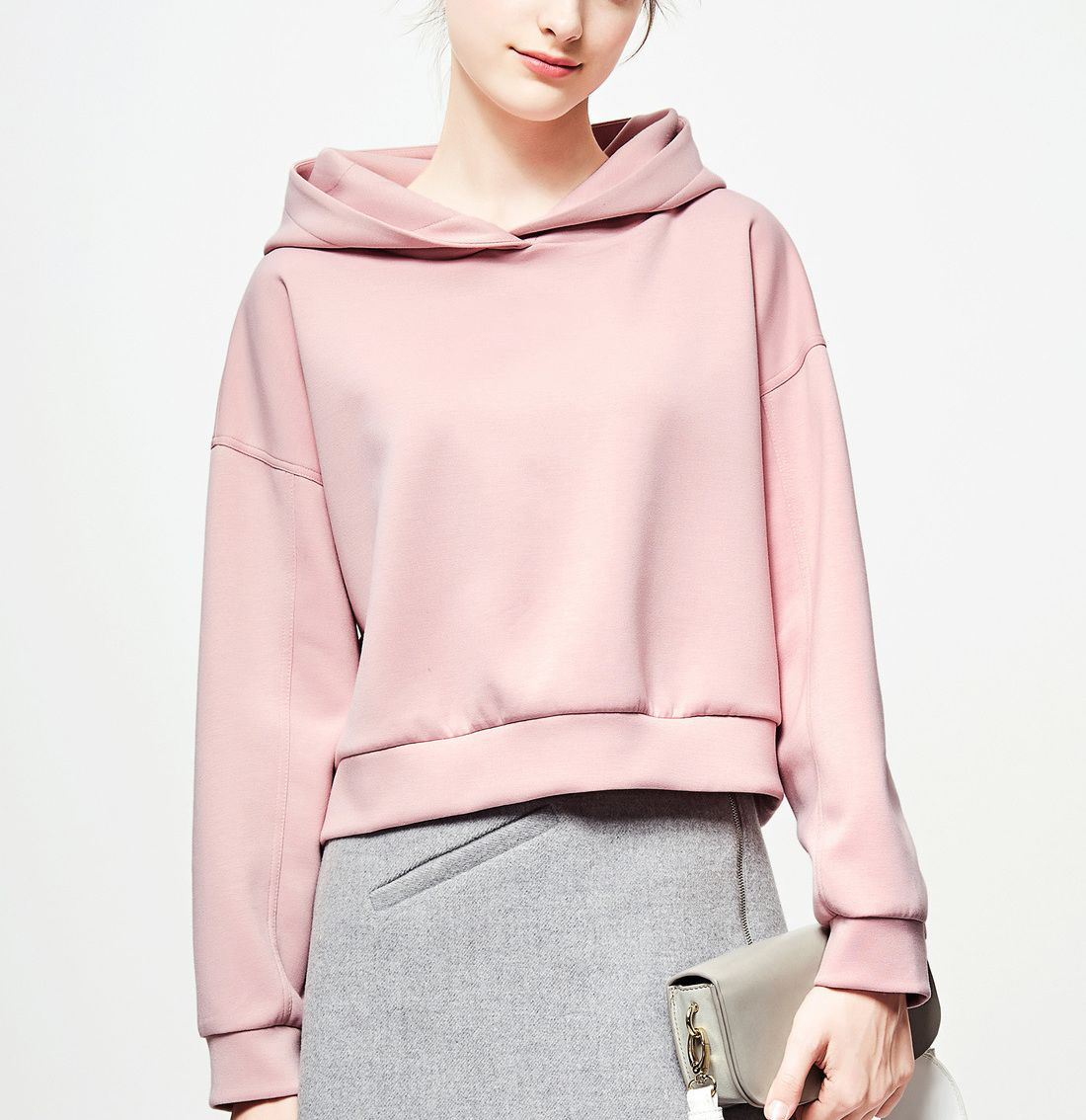 Winter New Loose Look Thin Head Casual Hooded Hooded Jacket Women's Short Style