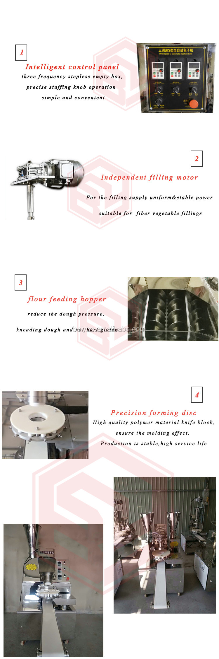 Auto steamed stuffing bun/double bucket momo making machine stainless steel baozi maker