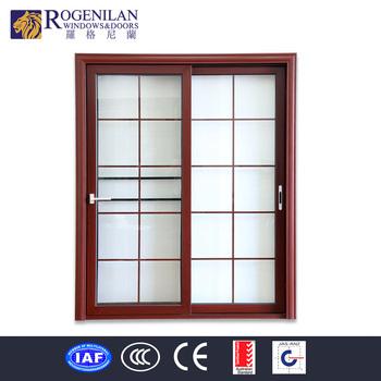 Rogenilan Interior Unbreakable Glass Doors Aluminum Frame Flush
