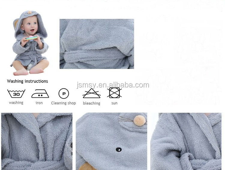 Kids Hoodie Bathrobe Custom Animal Baby Dressing Gown - Buy Animal ...