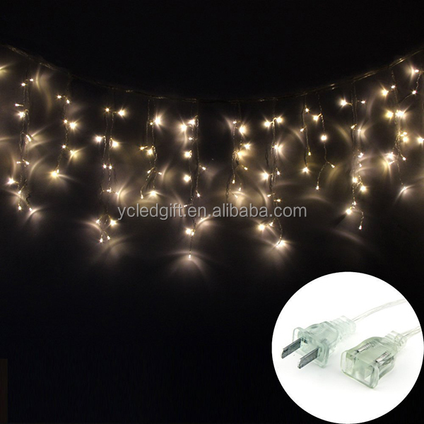 Icicle Christmas Lights Wedding Party 300 Led Window Curtain ...