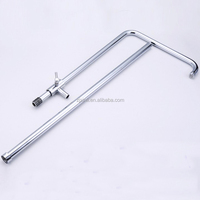 X15150 Chrome Plated Brass Material Shower Bar 7 Shape Pipe
