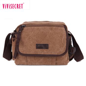 51eb25ecb87a Vintage stijl jongens satchel bag bruin canvas crossbody tas gemaakt in  China