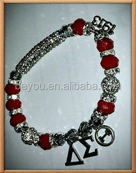 Delta Sigma Theta Dst Beaded Bracelet Buy Beaded Bracelet Greek