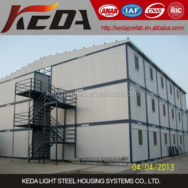 China 20ft low cost site office building prefab shipping container house for sale