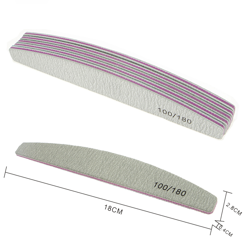 Professional Custom Double Side Disposable Nail File 100/180 Japan Sandpaper Nail File