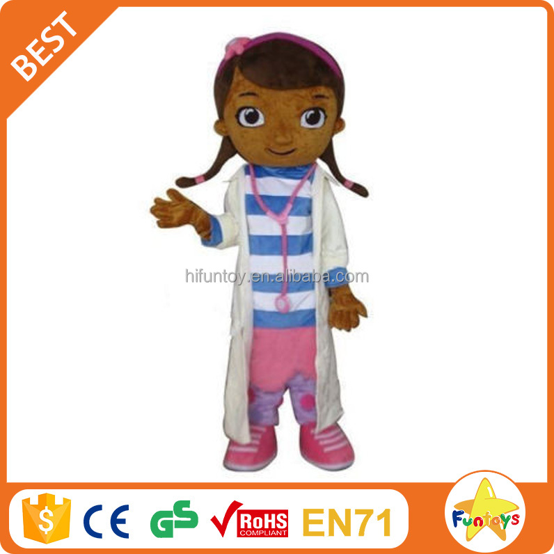 Funtoys CE doc mcstuffins Adulto Do Traje Da Mascote para adultos