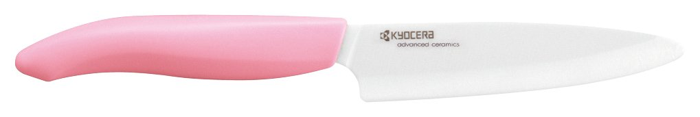 "Kyocera Advanced ceramic Revolution Series 4.5"" Utility Knife with Handle & White Blade, Pink"