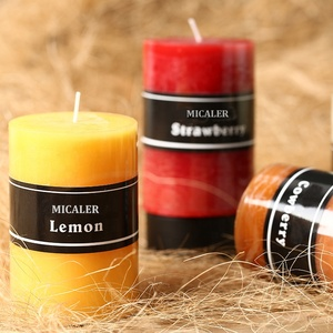 Trends Assorted Colour Flavor Decorative Scented Pillar Candle