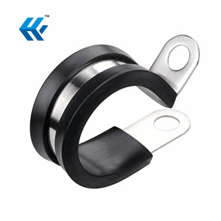 Strong Durability High Popularity Stainless Steel Rubber Cable Clamp