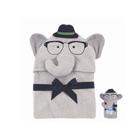Adorable 3D Animal Cartoon Baby Bamboo Cotton Hooded Towel