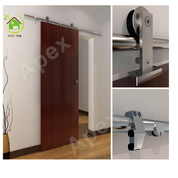 semplicità stile moderno scorrevole in legno barn door griglia ... - Design Della Porta In Legno Moderno Con Vetro