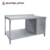 S024 Stainless Steel Work Table Cabinet With Under Shelf And Splash Back