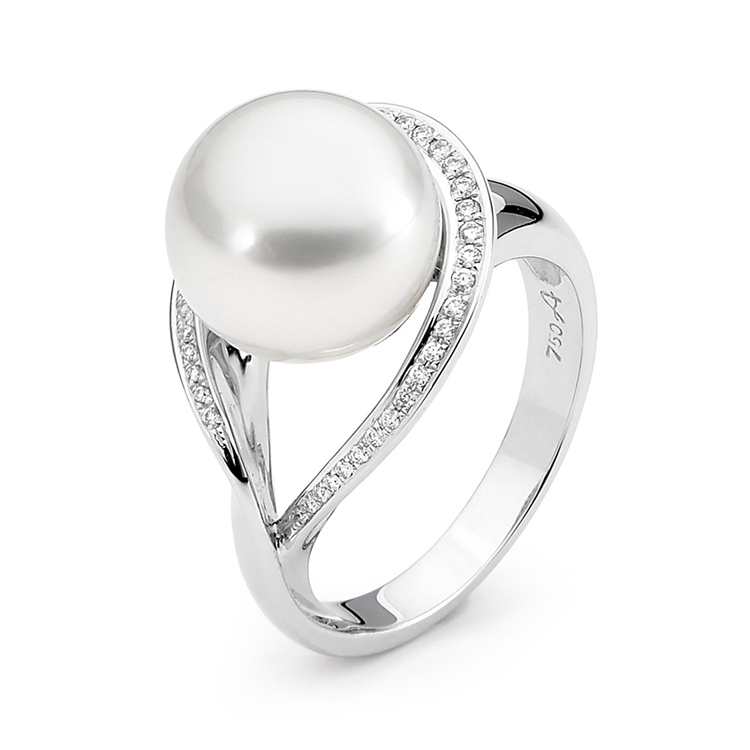 Sterling silver pearl ring custom jewelry wholesalers in china