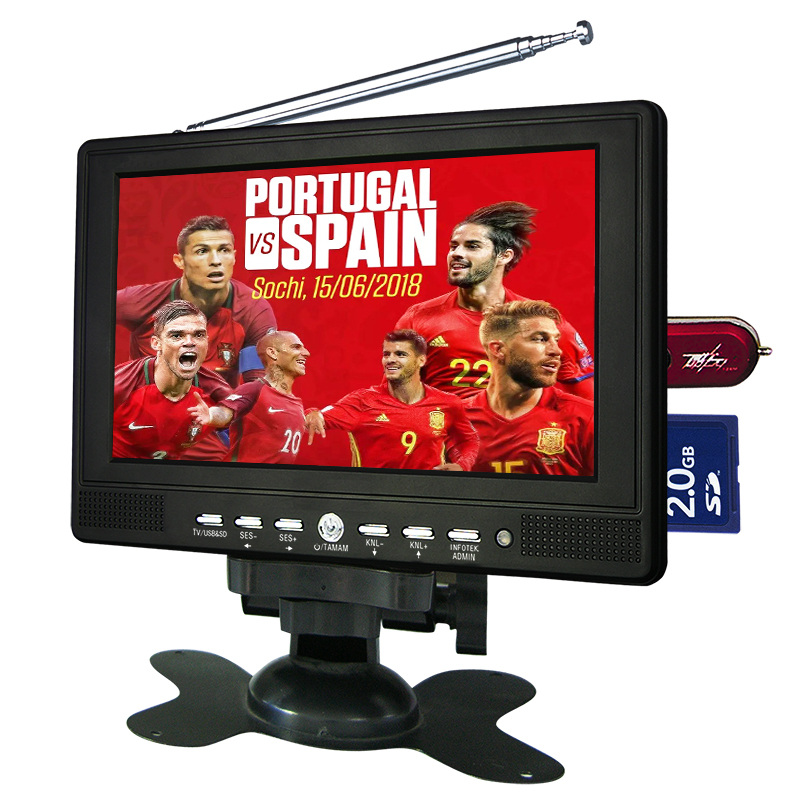 7 pulgadas Multi Media player tv lcd led con usb sd pc funciones