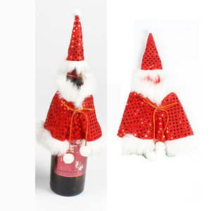 2019 New Product Ideas Christmas Xmas Santa Decor Hotel Bar Kitchen Table Decor Wine Bottle Dress