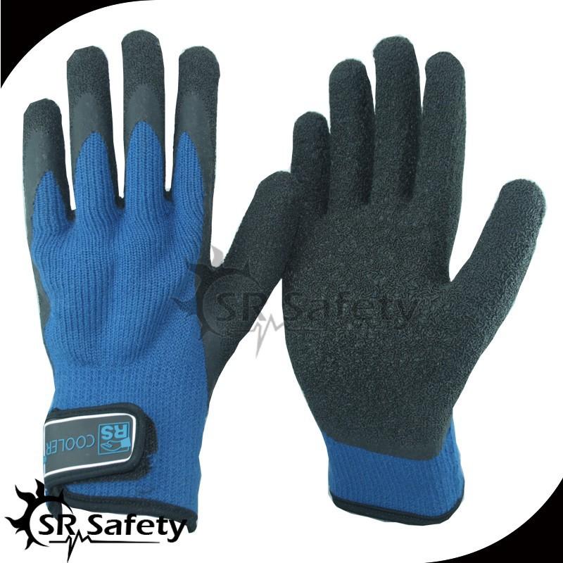 srsafety enduit de latex main gant hiver gant couche l 39 int rieur avec boucle gants de s curit. Black Bedroom Furniture Sets. Home Design Ideas