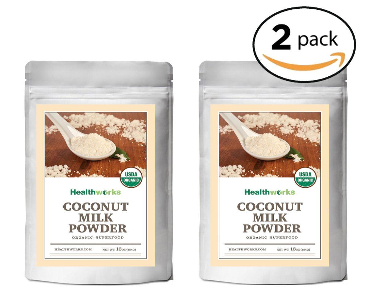 Healthworks Coconut Milk Powder Organic (Dairy Free), 2lb (2 1lb)