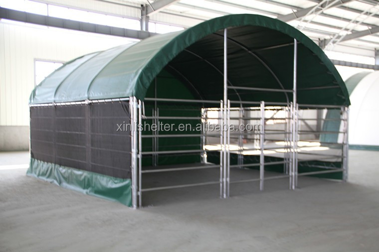 Portable Cow Shelters : Portable cow feeding tent sheep livestock animal shelter