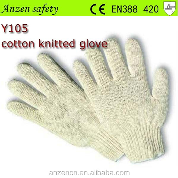 high quality fashion skin color cotton knitted funky gloves