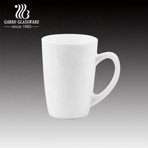 320ML White opal glass mug tableware dinner mug cup