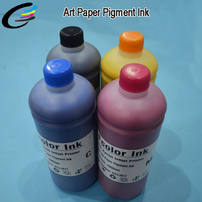 Free Coating Water Based Art Paper Pigment Ink for Epson Inkjet Printer