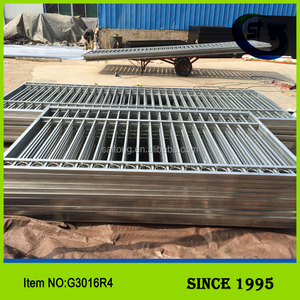 Saitong Custom Made Garden Galvanized Steel Tube Fence Gates