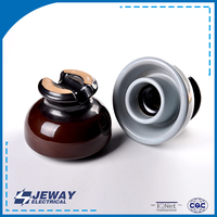 ANSI Class UV resistance 55-3 pin type porcelain insulators