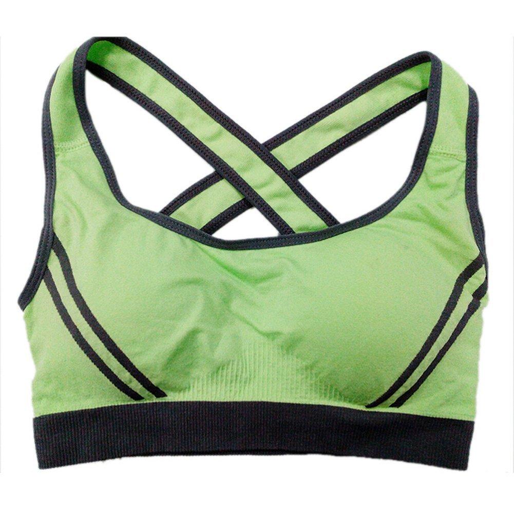 TOOGOO(R) Women Sexy Seamless Sport Bra Top Comfortable Bra Clothing-Green,S