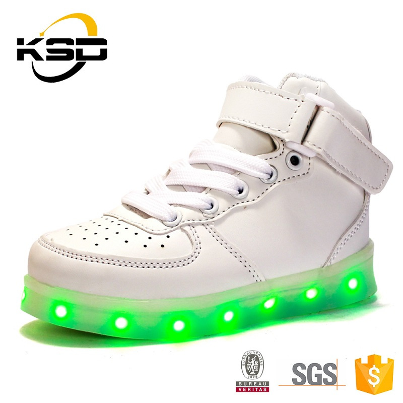 ShinyNight High Top Kids Led Shoes Light Up USB Charging Flashing Sneakers