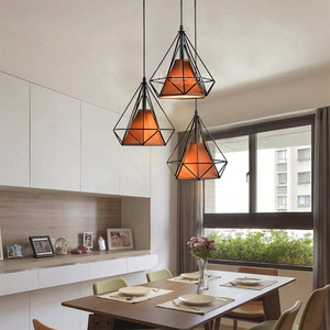 Three - head chandelier restaurant lamp Nordic dining hall lamp simple study pendant lamp.
