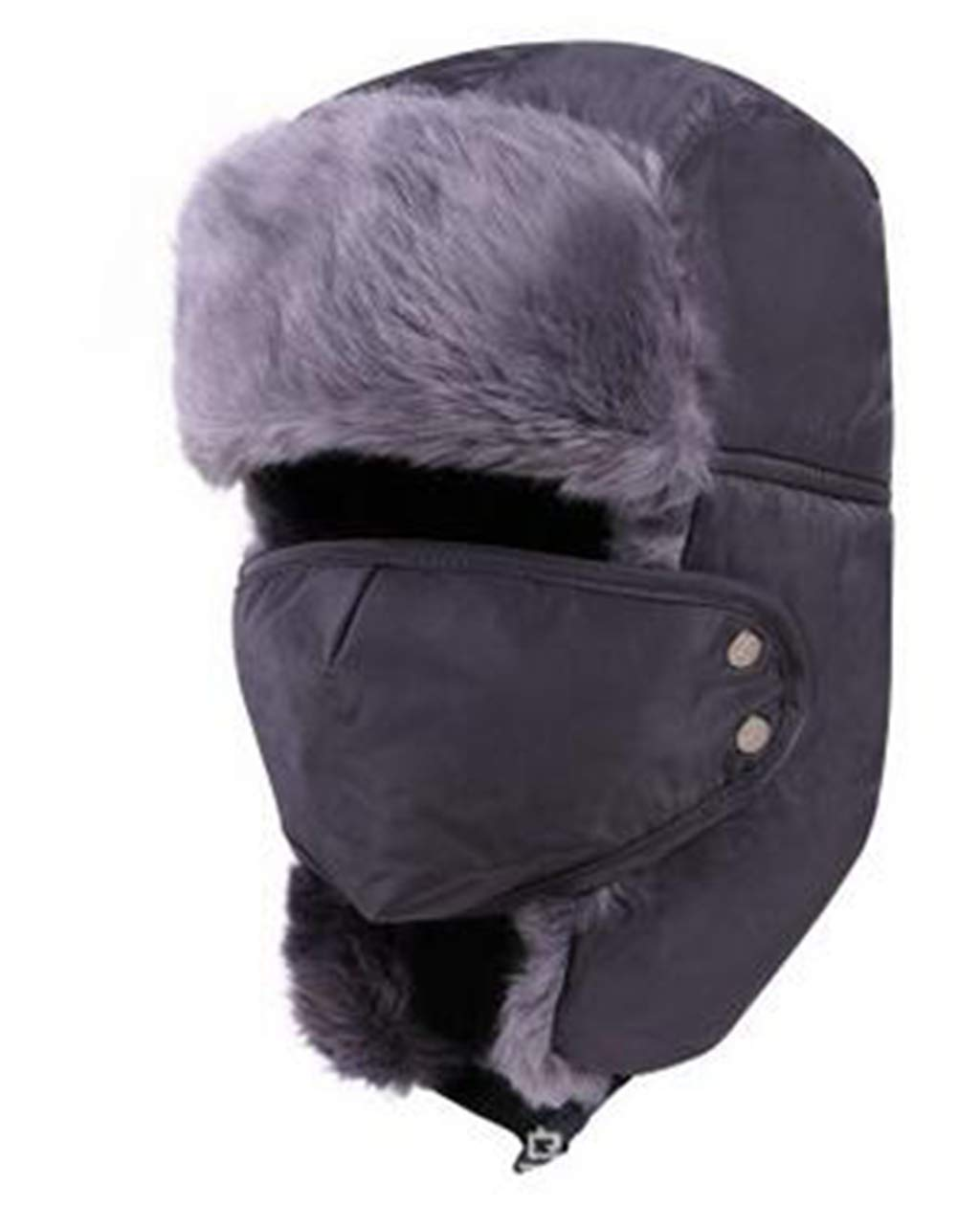 a5e2238c63f Get Quotations · Trooper Trapper Hat Winter Windproof Ski Hat with Ear  Flaps and Mask Warm Hunting Fashion Hats