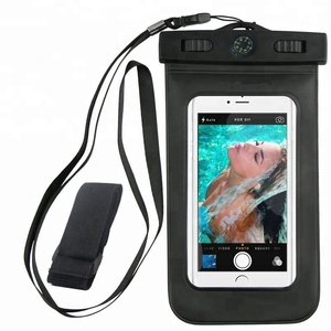 Premium Quality Universal Waterproof Case with Armband, Compass, Lanyard - Best Water Proof, Dustproof, Snowproof Pouch Bag