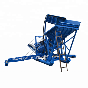 Rotary gold trommel screen separator for gold washing gold recovery plant