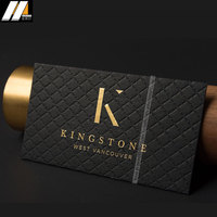 Amazing quality high-end black stock card personalized business card