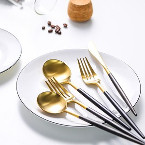 Good Price Stainless Steel Gold Plated Flatware Wholesale for Small Quantity Trial Order
