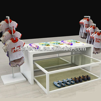 Wooden Kids And Baby Clothes Display Rack Clothes Display Rack For