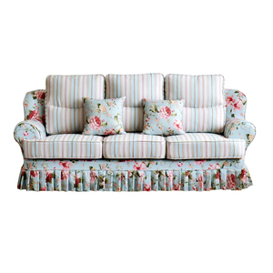 Fresh and natural pastoral style series factory custom wood furniture sofa