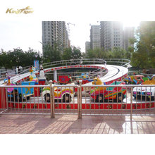 Children playground mini shuttle track train ride