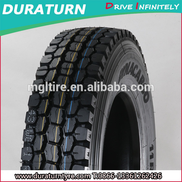 2017 DURATURN brand wholesale semi truck tire off road tire 12.00r20