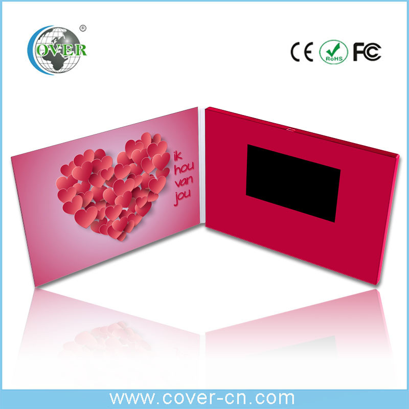 Custom size Lcd Video Greeting Card/Video Booklet/Lcd Video Book