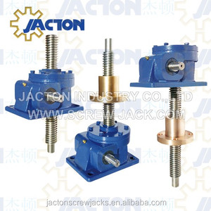 Electric Heavy Duty 750KN Worm Gear Screw Jack Lifting Tool System for Platform or Table Lift Tr 130x16