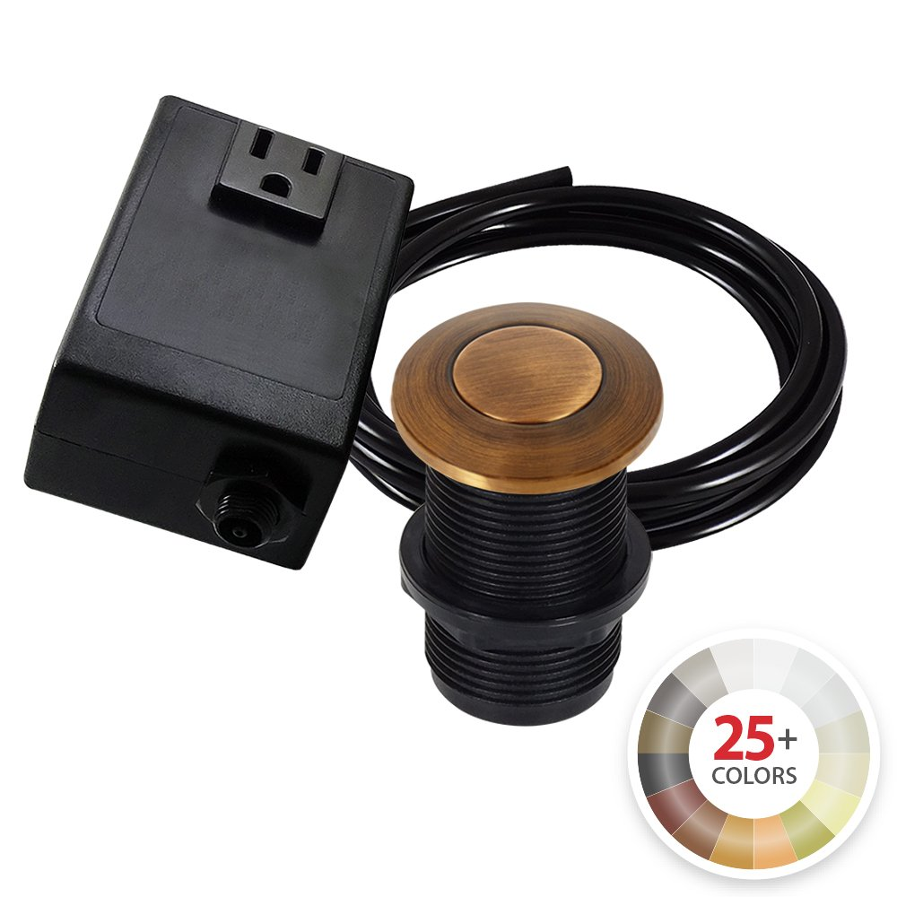 Cheap Single Sink With Garbage Disposal Find Wiring A Plug Get Quotations Outlet Turn On Off Top Air Switch Kit In Antique Copper