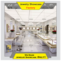 Modern white jewelry display stand drawer cabinet jewelry store layout design for younger target market