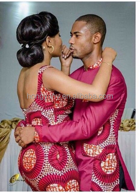 African fashion Ankara women dresses couple's clothes men top