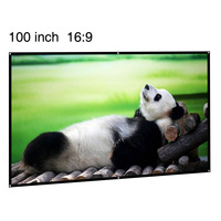 cheapest 100inch fast fold projection screen with matte 16:9 apsect ratio